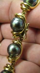 14k Tahitian Pearl bracelet clasp