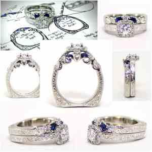 Custom Ring with Diamonds and Platinum