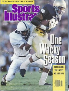 "Derek Brown, on the cover of Sports Illustrated. ""One Wacky Season."""