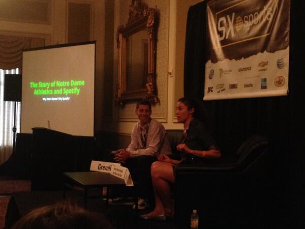 Christianne Harder (ND) and Justin Gramli (Spotify), Photo: NDFIDM