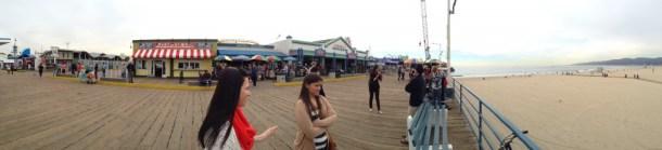 Santa Monica Pier Panoramic