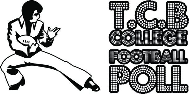 TCB Elvis Presley College Football Poll logo