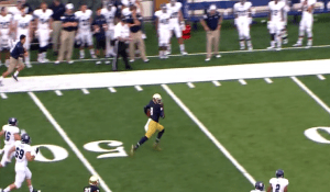 Malik Zaire takes off on one of the biggest rushing plays of the ND season against Rice.