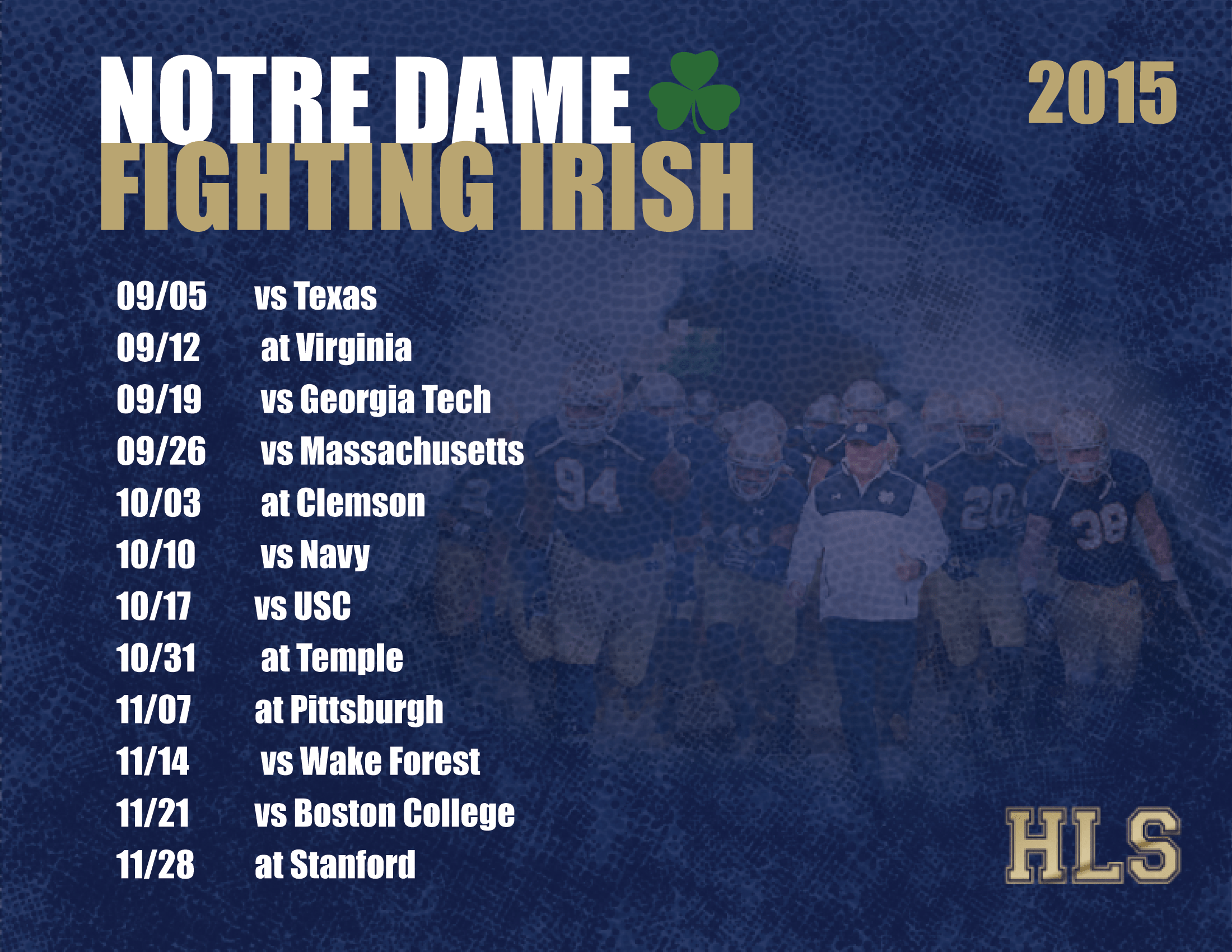 image about Printable College Football Schedules identified as 2015 Notre Dame Soccer Program - Her Faithful Sons