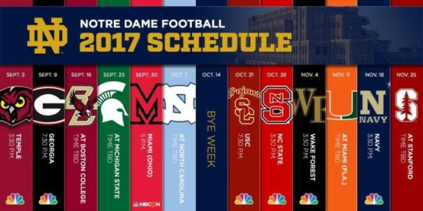 2017 Notre Dame Football Schedule