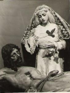 Cristo de la Buena Muerte y María Santísima de la Angustia en 1966