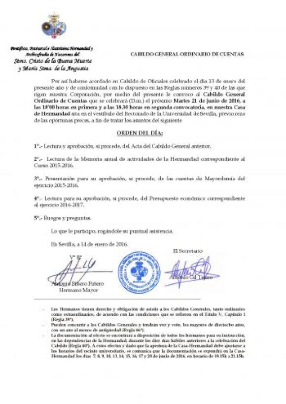 CONVOCATORIA CABILDO CUENTAS