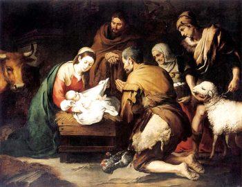 adoración pastores Murillo Navidad