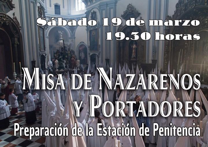 Recordatorio Misa Nazarenos