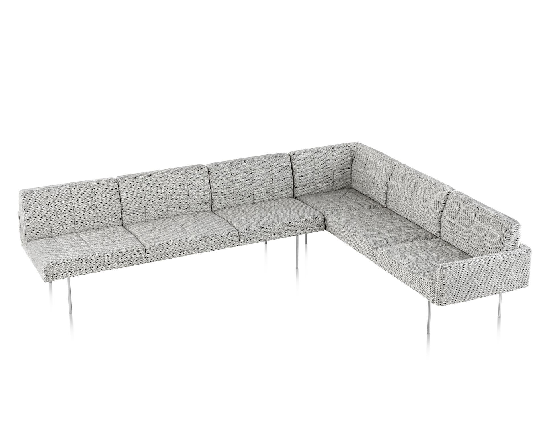 herman miller tuxedo sofa arm glass side table by geiger smart
