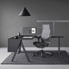 Ergonomic Chair For Home Office Covers Near Me Herman Miller Modern Furniture The And A Canvas Vista Workstation In Black Gray With Dark Cosm