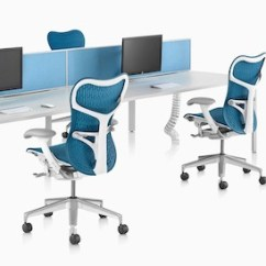 Ergonomic Chair Là Gì White Wicker Rocking Canada Herman Miller Modern Furniture For The Office And Home A Back To Benching Setup Using Layout Studio Work Surfaces Blue