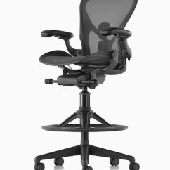 Herman Miller Chairs Seattle Desk Chair Blanket Aeron Stool Black Viewed From A 45 Degree Angle