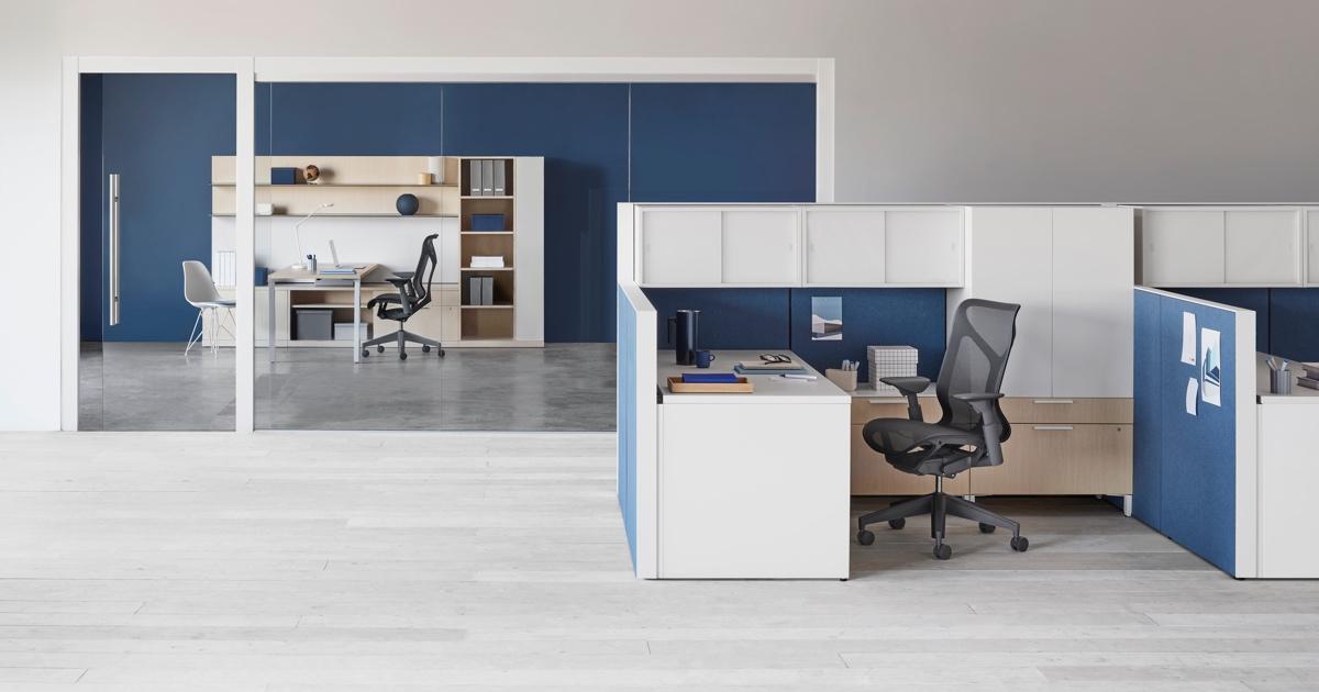 canvas office landscape workstations