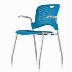Herman Miller Stacking Chairs Swivel Chair Kit Caper Blue Viewed From A 45 Degree Angle