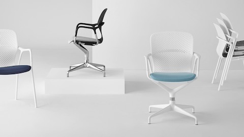 office chair good design posture uk chairs herman miller white and black keyn side including the stackable model