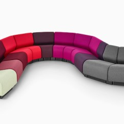 Chadwick Sofa Indian Image Modular Seating Lounge Herman Miller Modules In Gray And Various Shades Of Red Purple Arranged