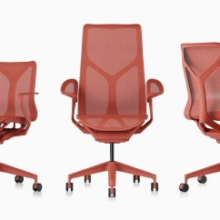 Office Chair Red Makeup Artist Cosm Chairs Herman Miller Low Back High And Mid Ergonomic Desk