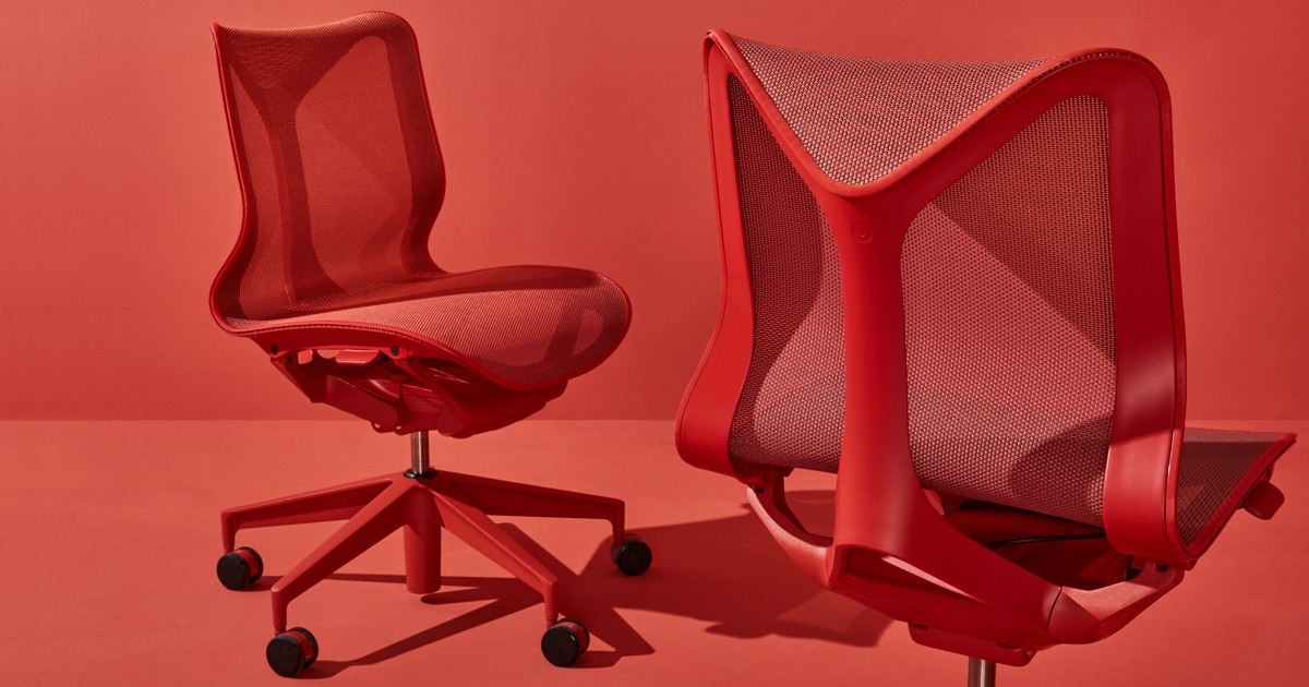 office chair red director cover pattern cosm chairs herman miller
