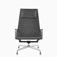 Black Eames Chair Swivel Glider Nursery Lounge And Ottoman Herman Miller Gray Aluminum Group