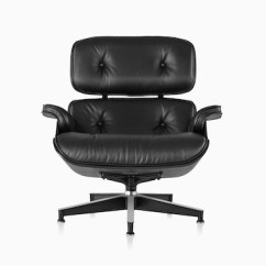 Black Eames Chair Fox Accessories Lounge And Ottoman Herman Miller Leather With A Shell Viewed From The Front