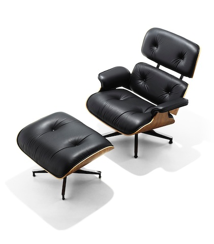 black chair and ottoman floor gaming canada eames lounge herman miller a modern take on the nineteenth century club