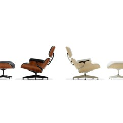 Charles Eames Lounge Chair Covers Christmas Tree Shop And Ottoman Herman Miller A Black Leather White