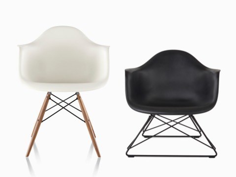 eames bucket chair lazy boy swivel chairs moulded plastic side herman miller