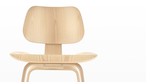 eames molded wood side chair office back support cushion plywood - herman miller