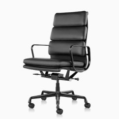 Eames Chair Cushion Acrylic Folding Chairs Set Of 2 Soft Pad Office Herman Miller Black Leather High Back Executive Viewed From A 45