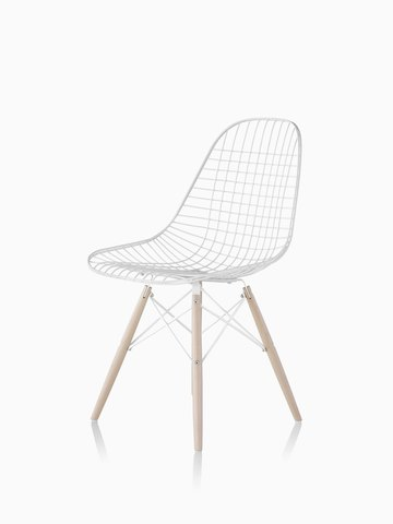 outdoor wire chairs desk chair cushion eames side herman miller