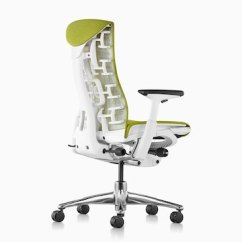 Embody Chair By Herman Miller Ikea Leather Chairs Office Three Quarters View Of A Green Showing The Back And Side