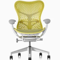 Yellow Office Chair Cushion Chairs Mirra 2 Herman Miller Lime Green Viewed From The Front
