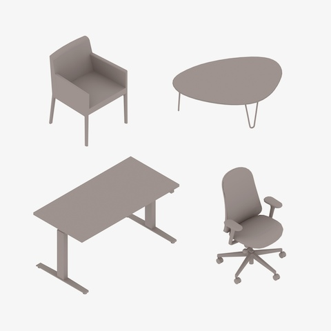 swing chair revit family hanging grey 3d models products herman miller
