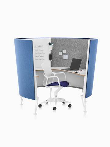 desk chair pad designer office prospect solo space - collaborative furniture herman miller