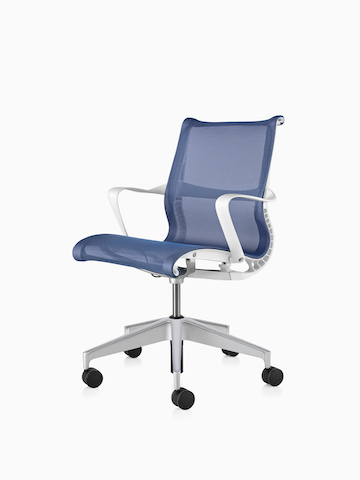 office chair ratings 2016 how to clean a recliner chairs herman miller blue setu with white arms viewed from 45 degree angle