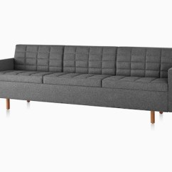 Herman Miller Tuxedo Sofa Sofabezug Big Classic Lounge Seating Dark Gray Viewed From The Front