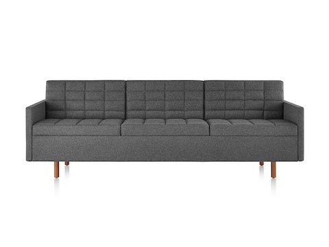 herman miller tuxedo sofa bed and warehouse wakefield classic lounge seating dark gray viewed from the front