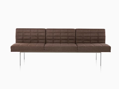 herman miller tuxedo sofa ethan allen air mattress sleeper sofas lounge seating two seat blue and side table combination viewed from