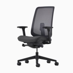 Desk Chair Herman Miller Lawn Cushion Covers Verus Office Chairs Gray With A Suspension Back And Upholstered Seat Viewed From 45
