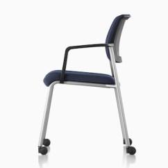 Aluminum Management Chair Umbrella Holder For Verus - Side Herman Miller