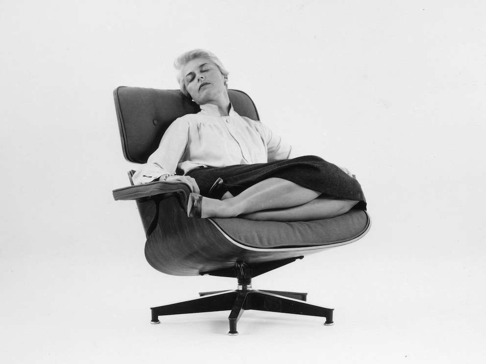 An Eames Lounge Chair in Fabric  Herman Miller