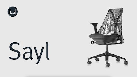 ergonomic chair angle folding rocker adjustments herman miller a sayl office with white frame polished base and orange upholstered seat