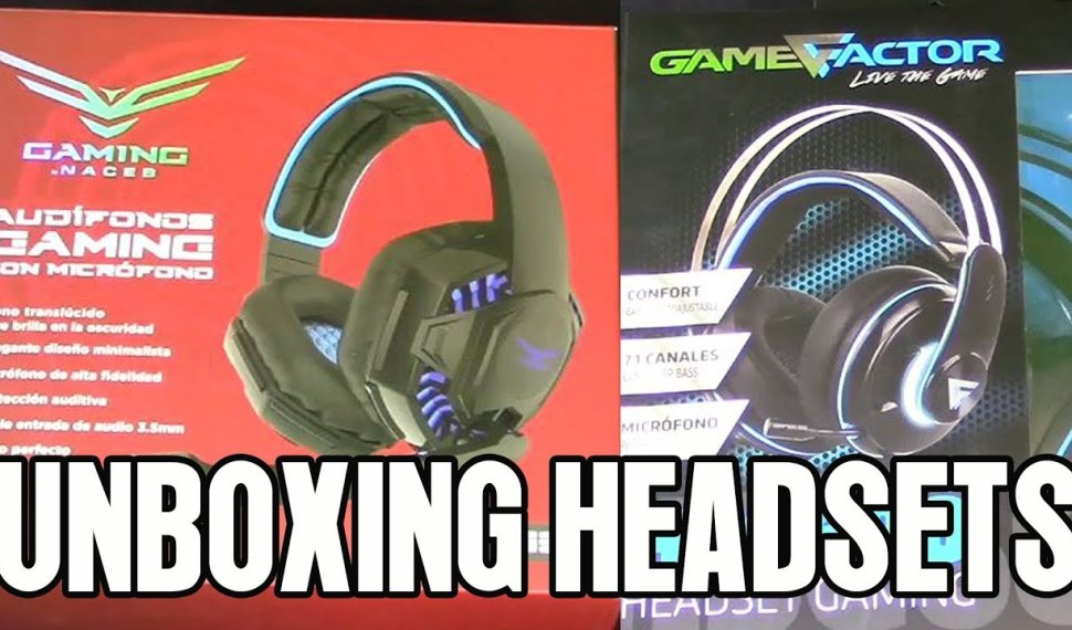 Unboxing Review de Headsets Naceb 638 y Game Factor HSG 600