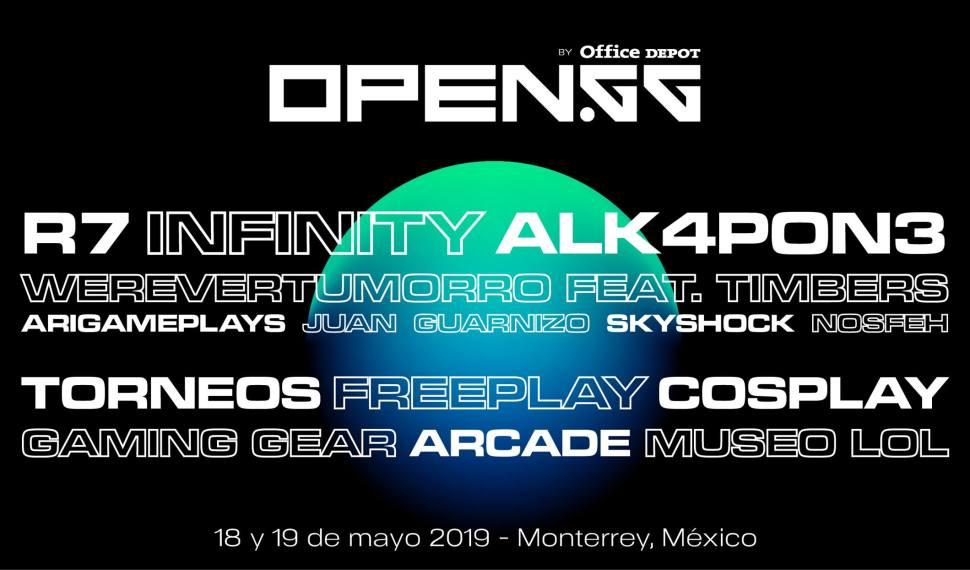 Llega a Monterrey TheOpen.gg un Festival Gamer con MyM Alk4pon3 Ari Gameplays y Werevertumorro