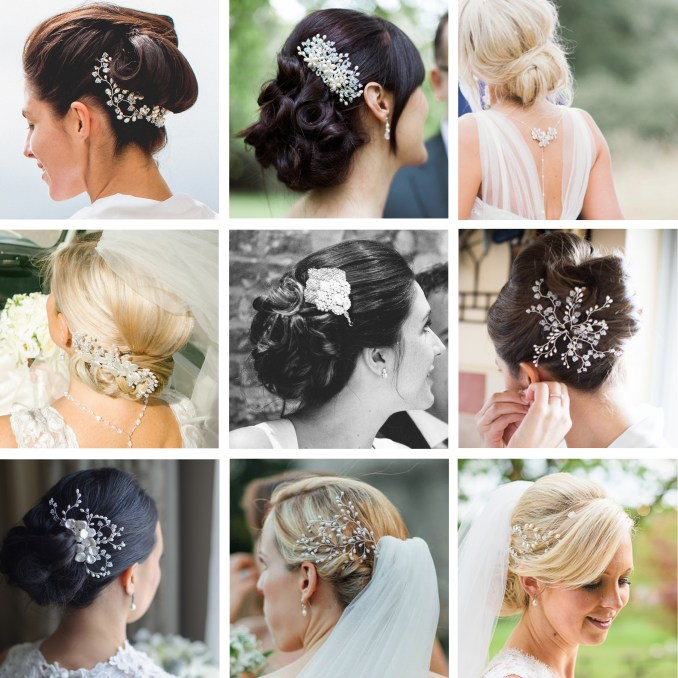 wedding bun hairstyles - hair accessories blog