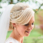 wedding bun hairstyles - hair accessories