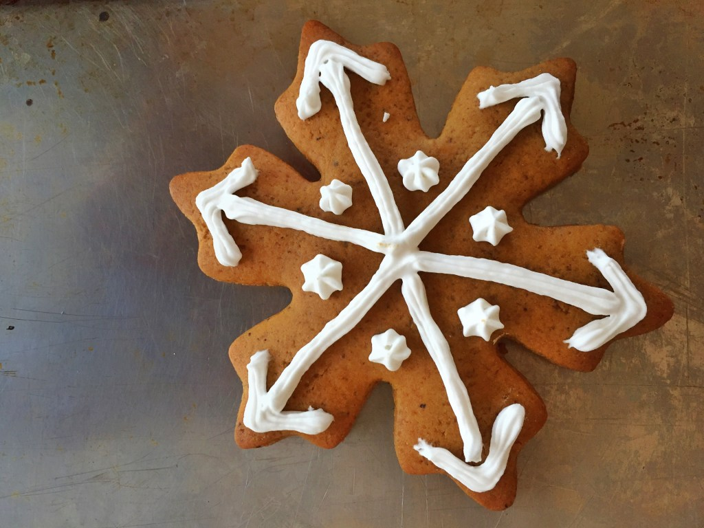 Chinese 5 Spice Gingerbread Cookies Snowflake
