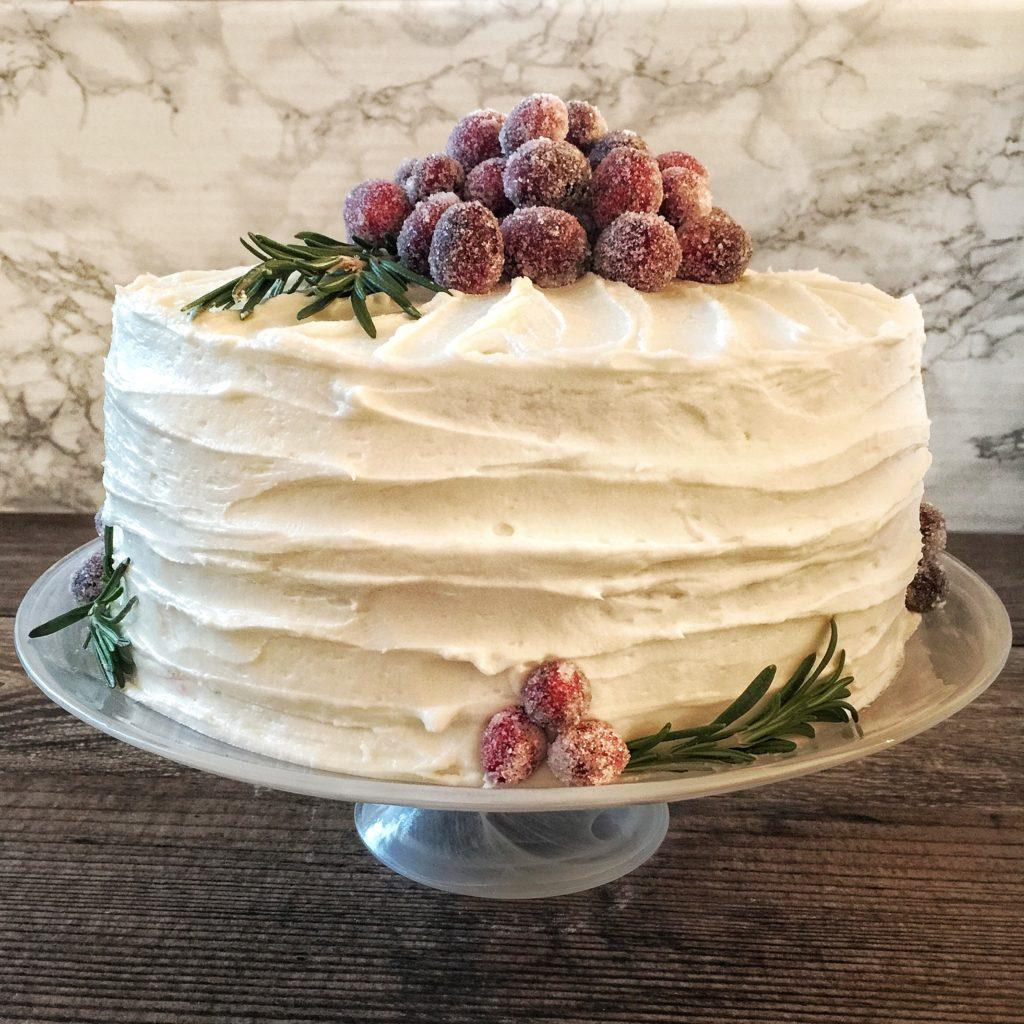 Festive Italian Cream Cake With Cranberry Curd Amp Sugared