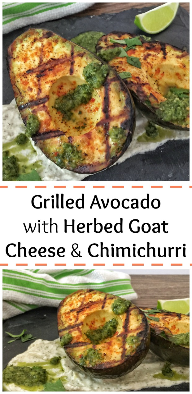 Grilled Avocado with Goat Cheese Pin